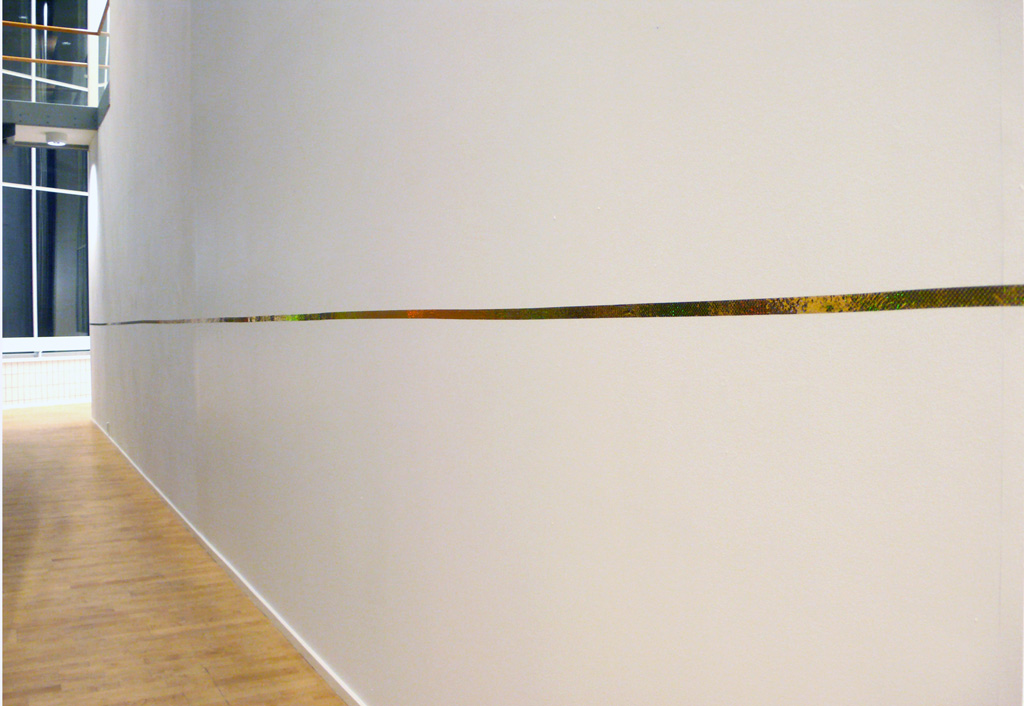 """500 inches of Gold"", (after Mel Bochner) 2011"