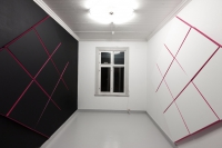 Each 180 x 180 cm. Acrylic and fluorcent on Linien.
