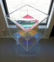 2012 Plexi glass, radiant plexi glass 41 x 41 x 41 cm